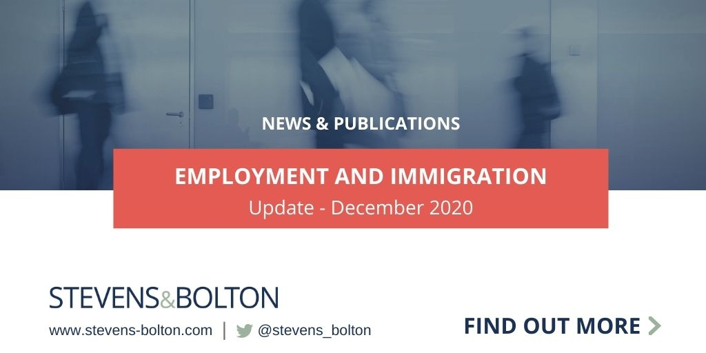 Employment And Immigration Update Dec 2020