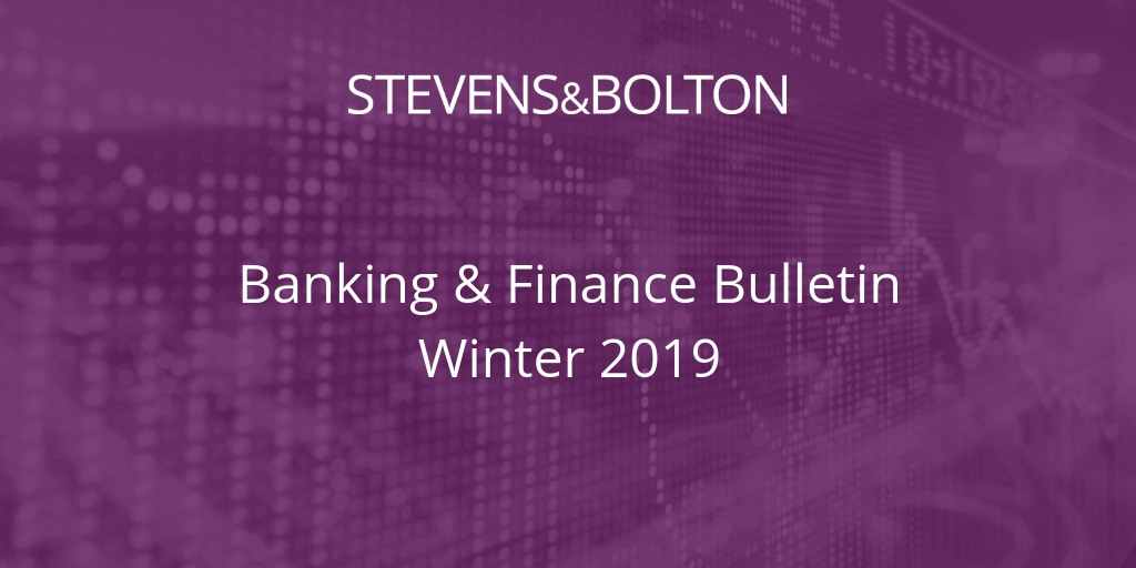 Banking & Finance Bulletin - Winter 2019