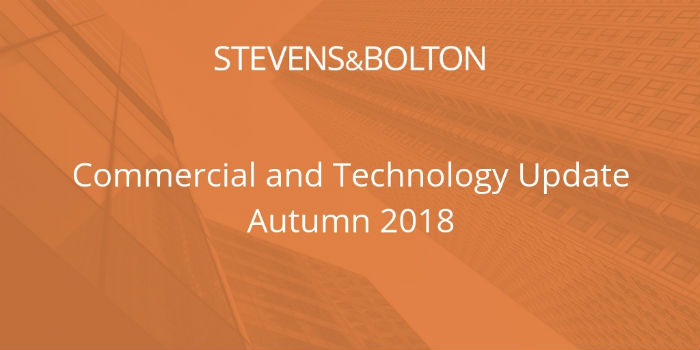 Commercial and Technology Update - Autumn 2018