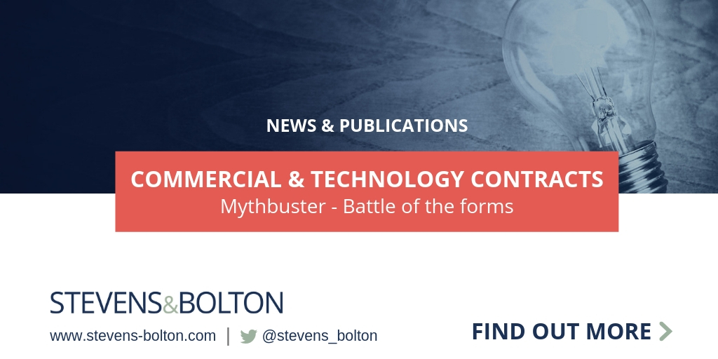 Commercial & Technology Contracts Mythbuster - Battle of the Forms