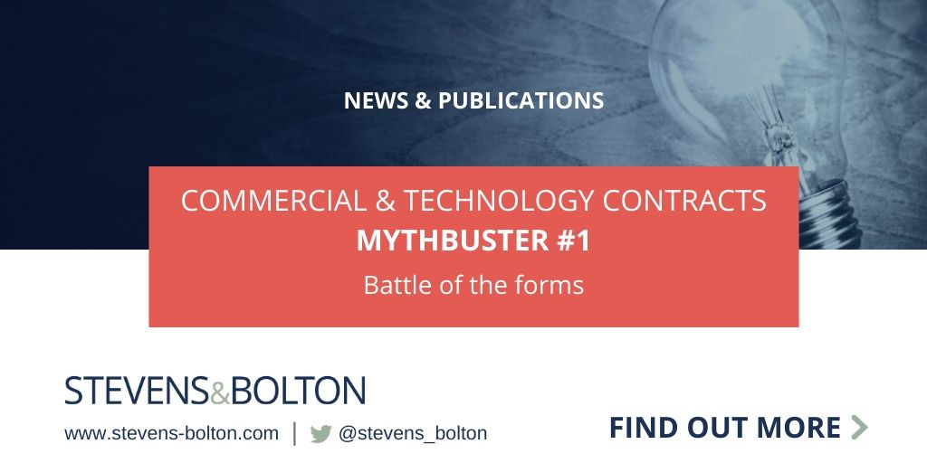 Commercial & Technology Contracts Mythbuster: Battle of the forms
