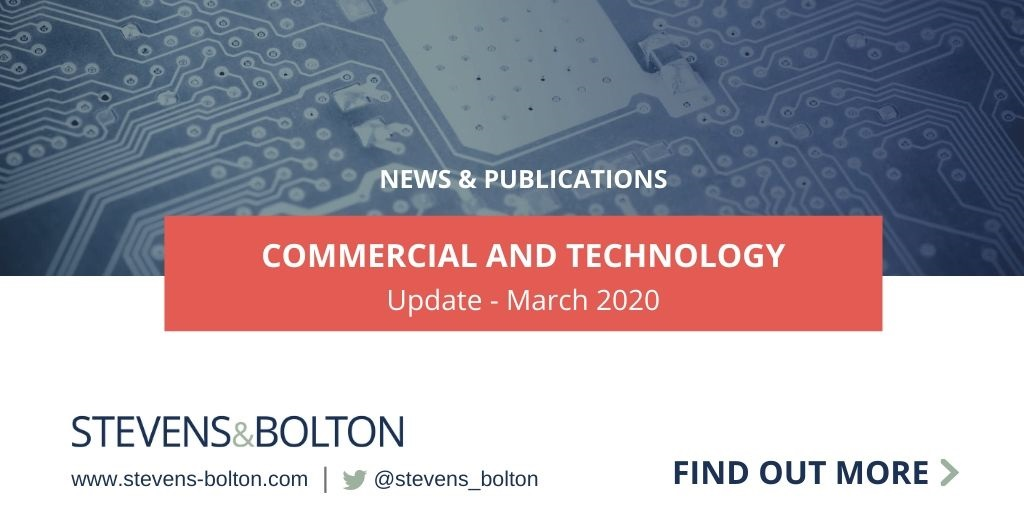 Commercial and Technology Update - March 2020