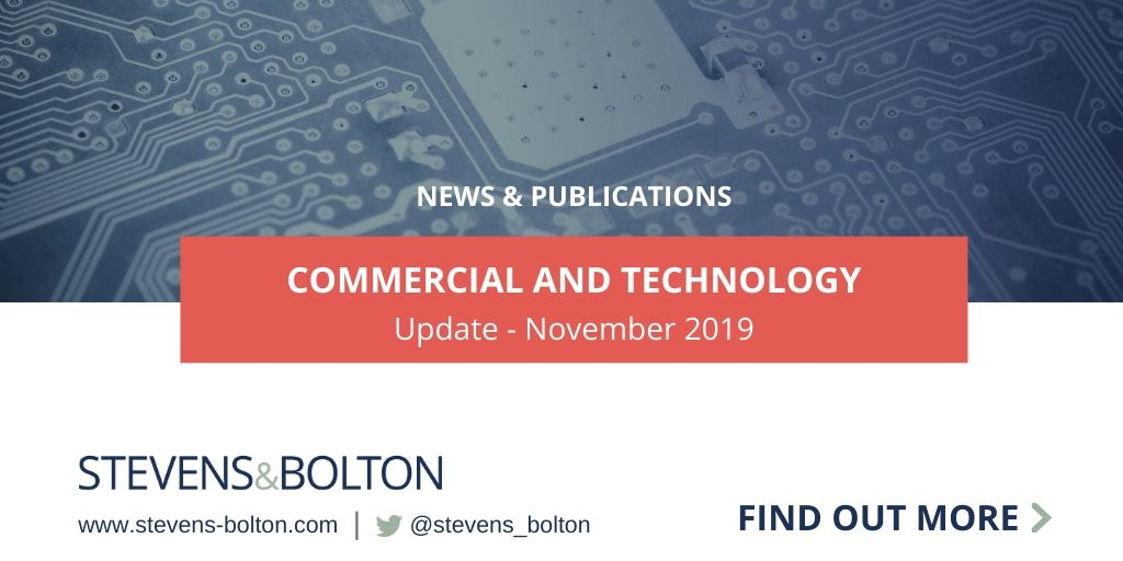 Commercial and Technology Update - November 2019