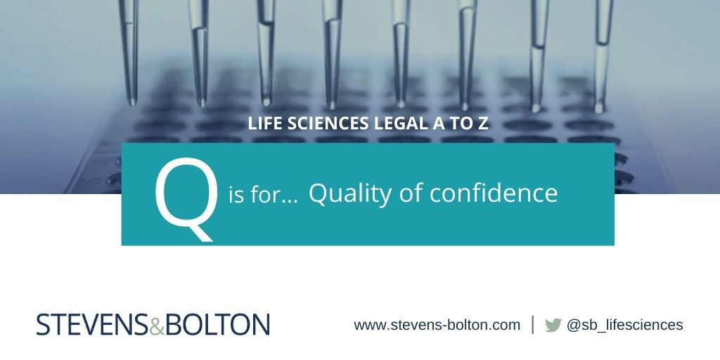 Life Sciences A TO Z - Q is for quality of confidence