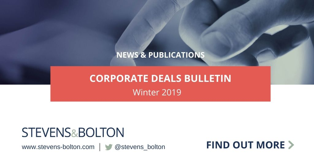 Corporate Deals Bulletin - Winter 2019