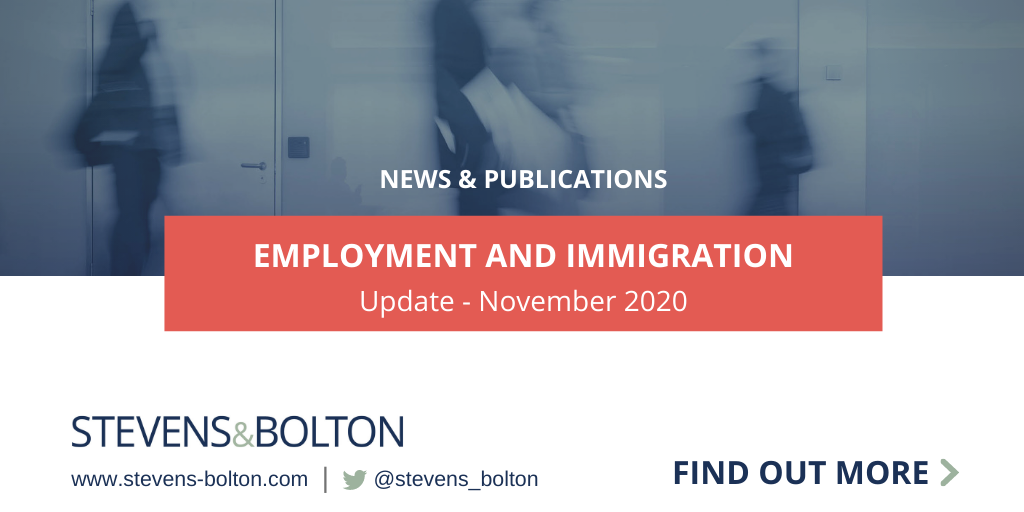 Employment and immigration update - November 2020
