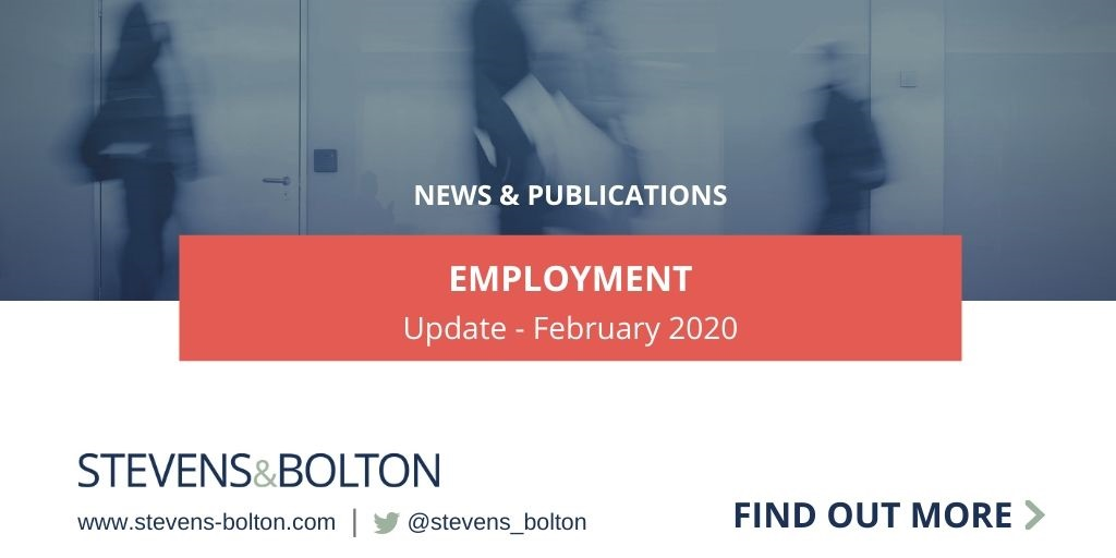 Employment Update - January 2020