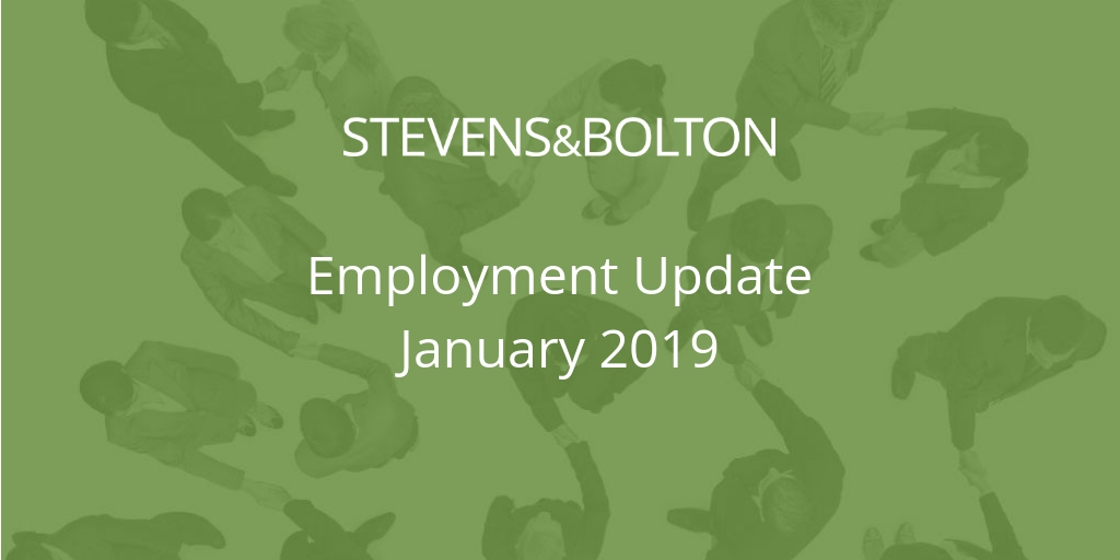 Employment Update - January 2019