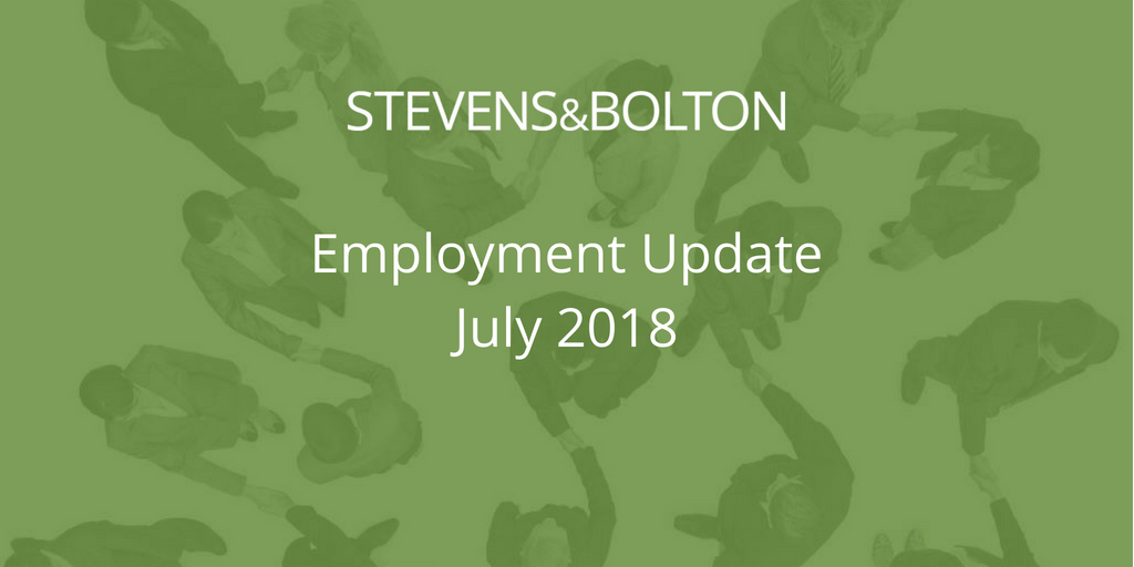 Employment Update - July 2018
