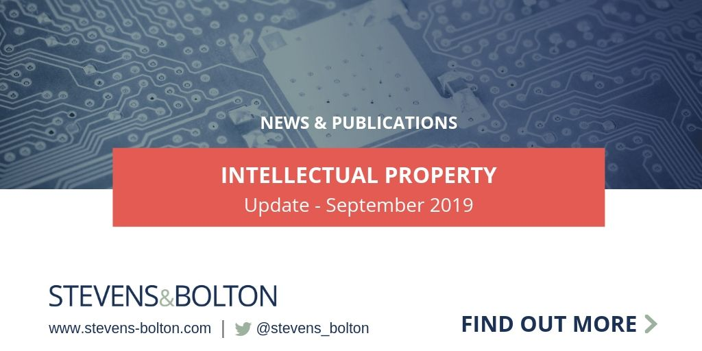 Intellectual Property Update - September 2019