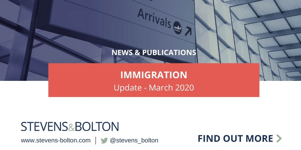 Immigration Update - March 2020