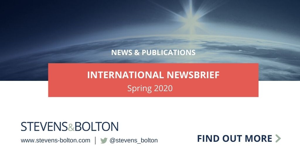 International Newsbrief Spring 2020