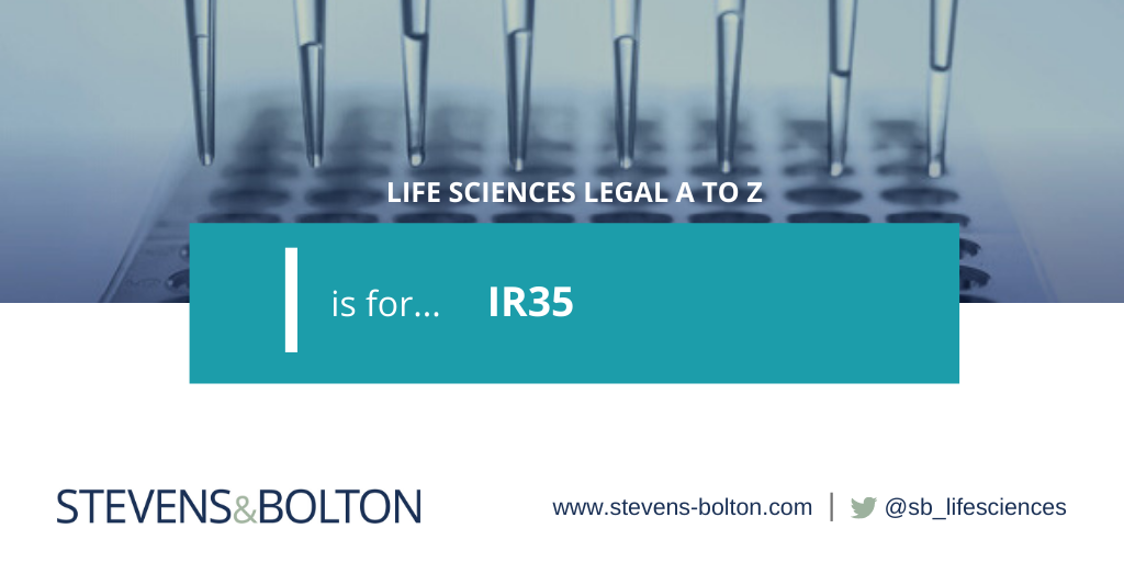 Life sciences legal A to Z - I is for IR35