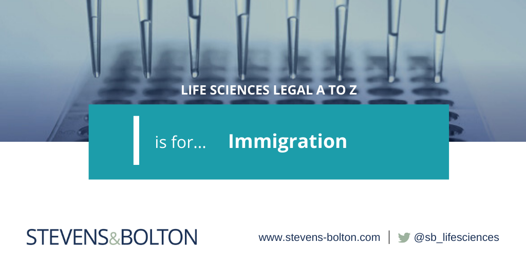 Life Sciences A to Z - I is for immigration
