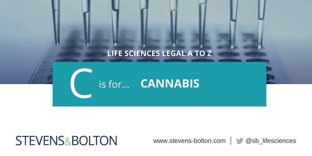Life Sciences Legal A to Z - C is for Cannabis