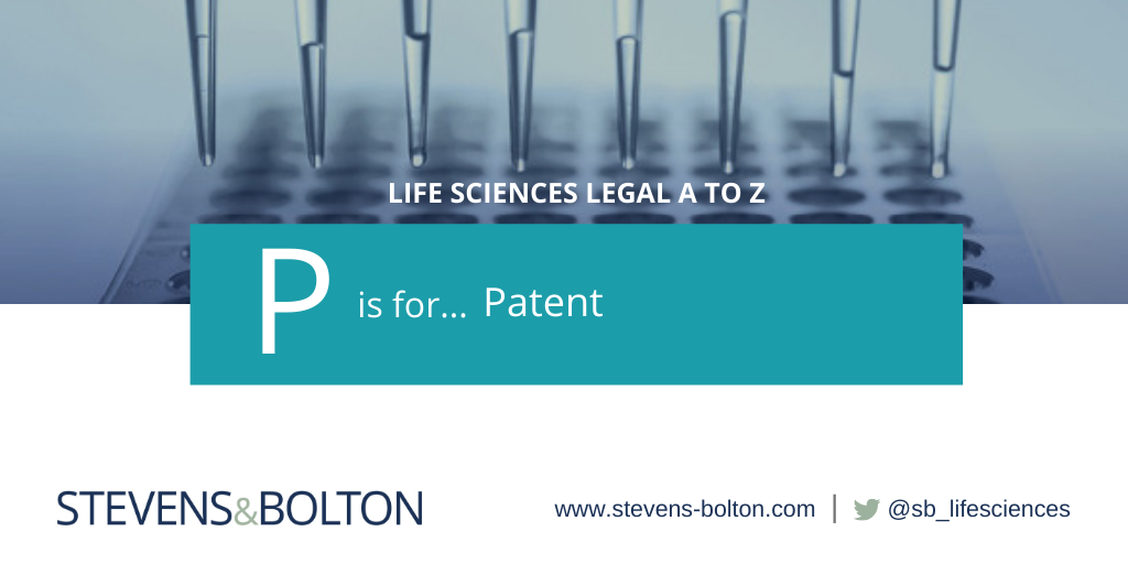 Life sciences A to Z - P is for patent