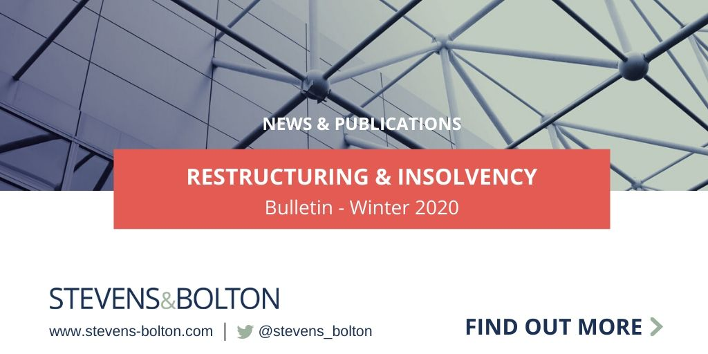 Restructuring & Insolvency Bulletin - Winter 2020