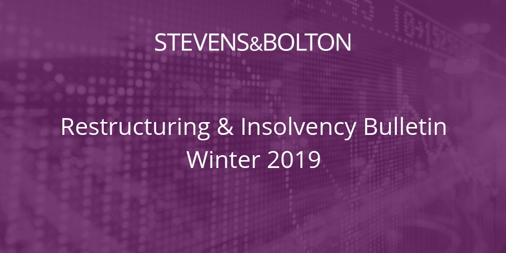 Restructuring & Insolvency Bulletin - Winter 2019