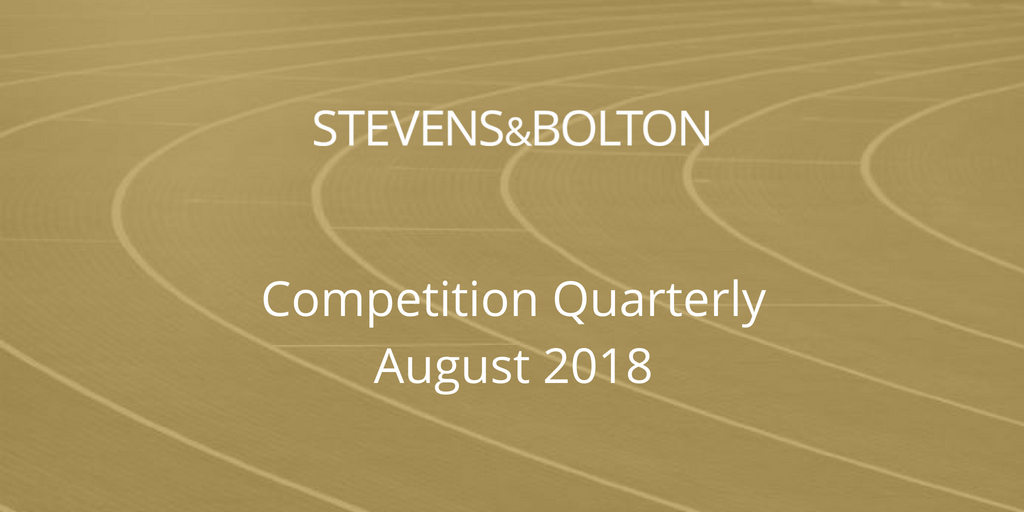Competition Quarterly - August 2018