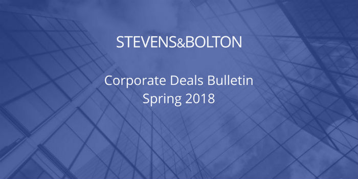 Corporate Deals Bulletin - Spring 2018