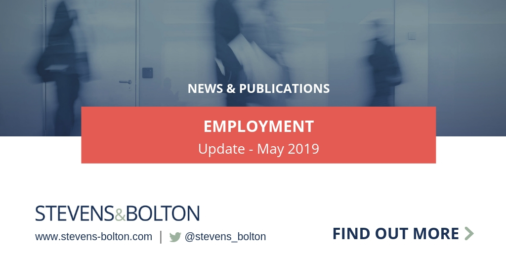 Employment Update - May 2019