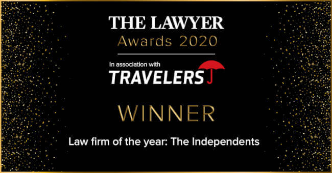 Law Firm of the Year: The Independents - The Lawyer Awards 2020